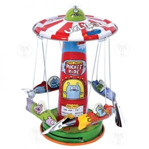 Tin Ugly Doll Rocket Carousel Ride