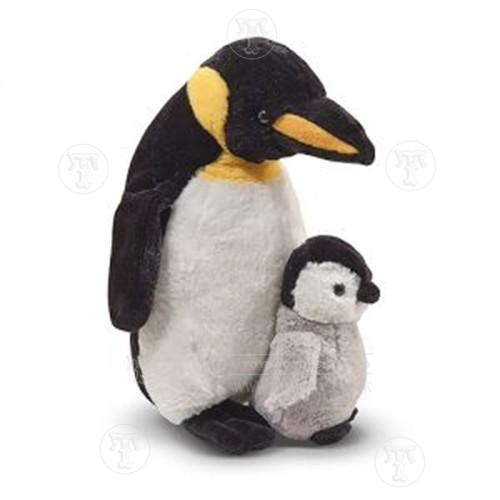 Plush Webber Penguin with Baby