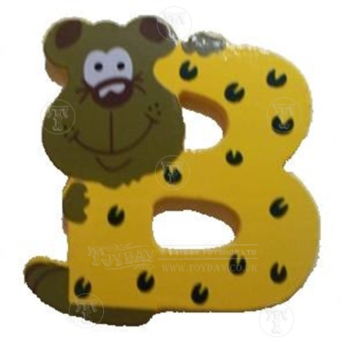 wooden personalised letters - letter b - wooden animal letters
