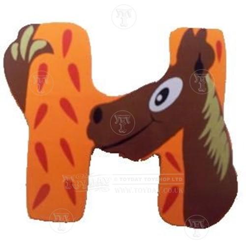 Wooden Animal Letter H