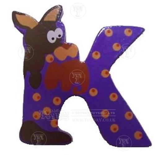 Wooden Animal Letter K
