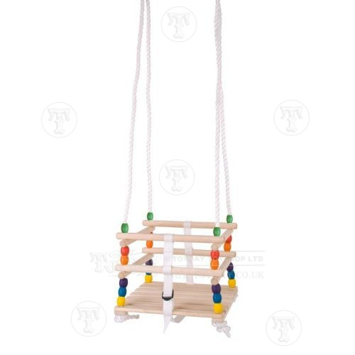 Wooden Beaded Baby Swing