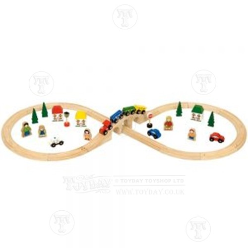 40 Piece Wooden Train Set