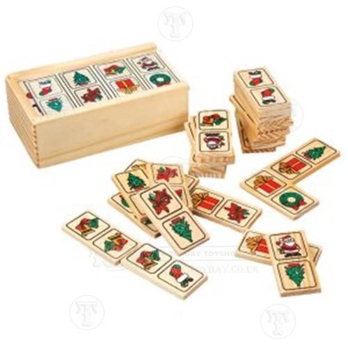 Wooden Christmas Dominoes