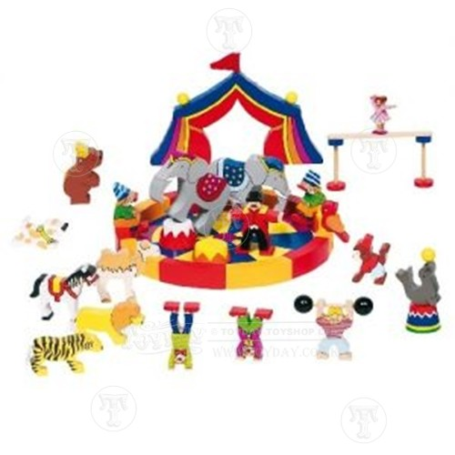 Wooden Circus Play Set