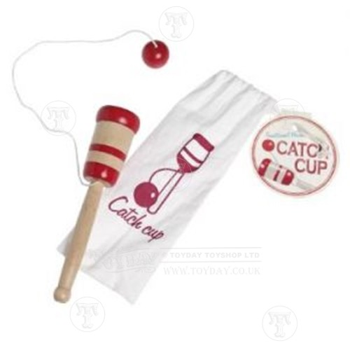 Wooden Cup and Ball in a Bag