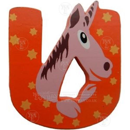 Wooden Animal Letter U