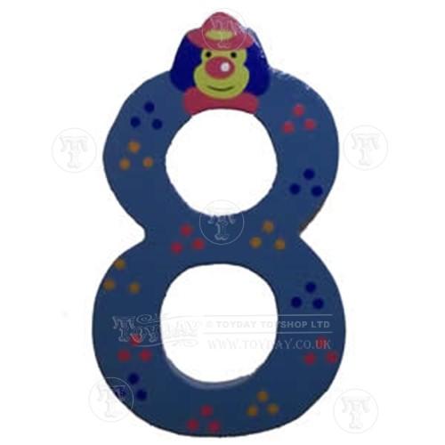 Wooden Clown Number 8