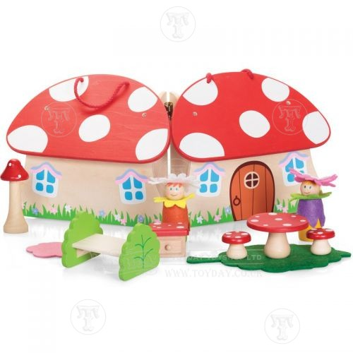 Toyday Traditional & Classic Toys Wooden Pixie House