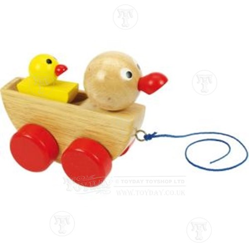 Wooden Pull Along Duck