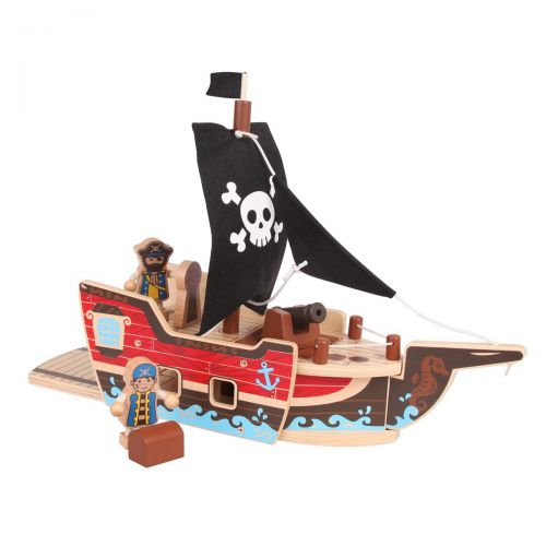 Wooden Pirate Ship Play Set