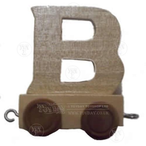 Wooden Train Letter B