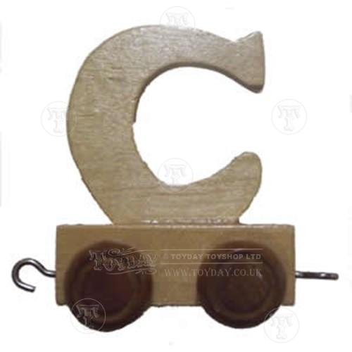 Wooden Train Letter C