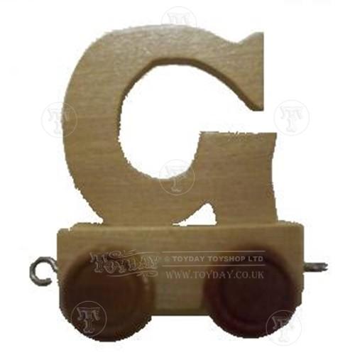 Wooden Train Letter G