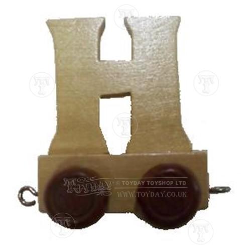 Wooden Train Letter H