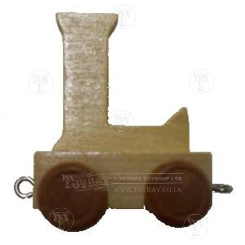 Wooden Train Letter L
