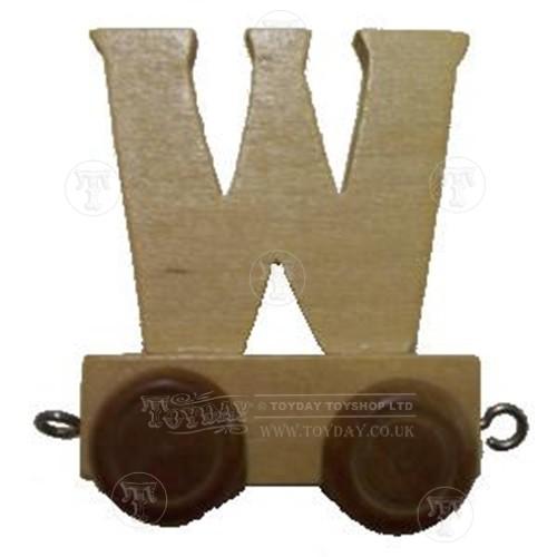 Wooden Train Letter W
