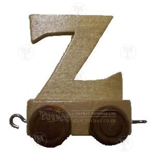 Wooden Train Letter Z