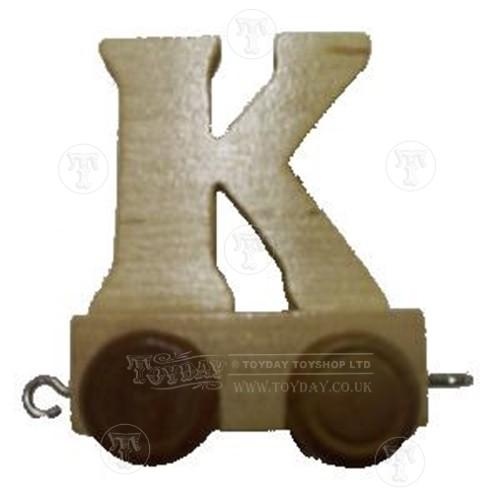 Wooden Train Letter K
