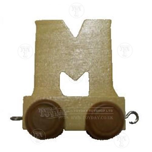 Wooden Train Letter M