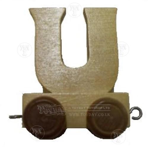 Wooden Train Letter U