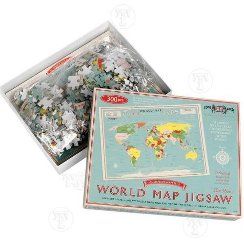 Vintage Style World Map Jigsaw Puzzle