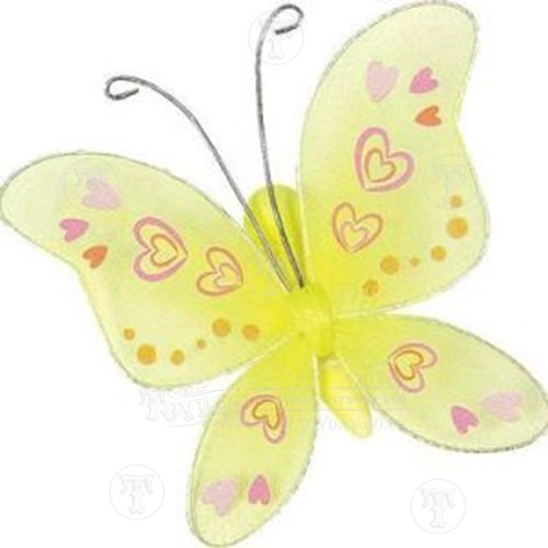 Decorate a yellow butterfly