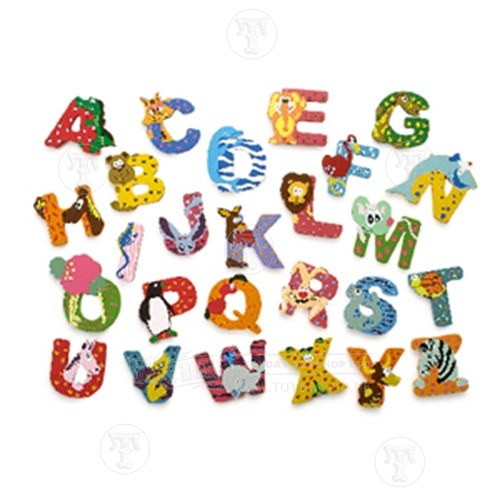 Wooden Hand Painted Letter A Z Wooden Animal Letters