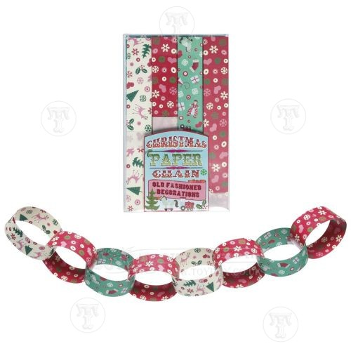 Christmas Paper Chains Uk.50 S Style Christmas Paper Chains