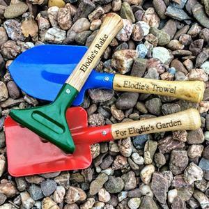 Personalised Kids Garden Tools Set